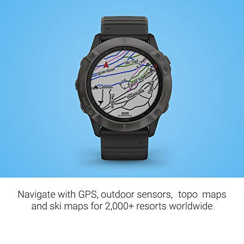 Garmin Fenix 6X Pro Solar Man Features Mapping Music Grade-Adjusted Pace Guidance Pulse Ox Sensors