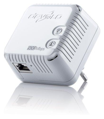 devolo dLAN 500 WiFi Powerline (Internet über die Steckdose, WLAN, 1x LAN Port, 1x Powerlan Adapter, PLC Netzwerkadapter, WLAN verstärken WiFi Booster, WiFi Move) weiß