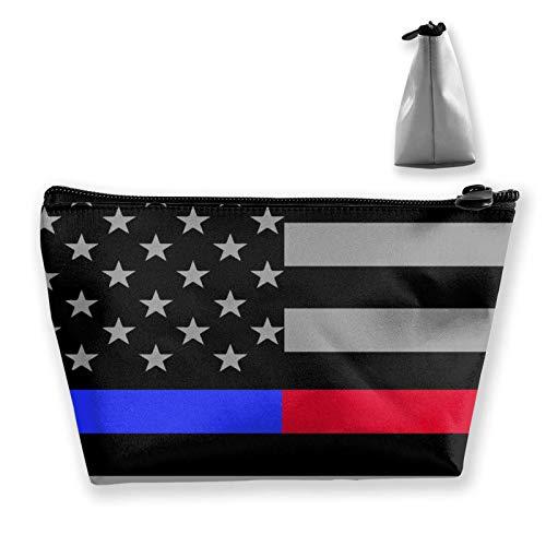 Damen und Mädchen Kulturtasche, weiche Tasche, Handtasche, Mini-Münzgeldbörse, Make-up-Taschen (amerikanische Flagge, patriotisch, USA, Weißadler und Buch)