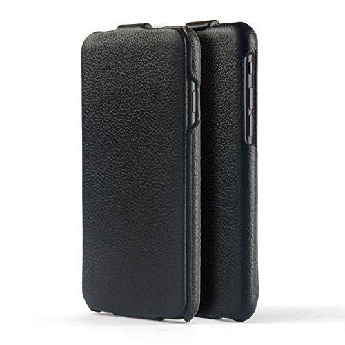 NOVADA Custodia per iPhone 7 & 8 Custodia a Flip in Vera Pelle per Apple iPhone 7 & 8 - Collezione Duke - Nero