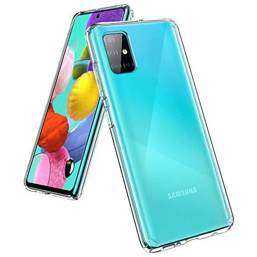 UNBREAKcable Funda para Samsung Galaxy A51– [Anti-Amarilleo] Carcasa Protectora Antigolpes Transparente con Esquinas...