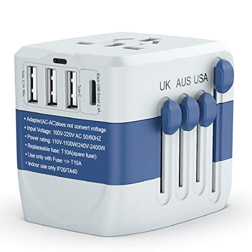 Travel Adapter 2400W,High Power Universal Travel Adapter, International Power Adapter, All in one...