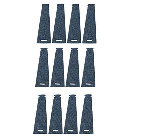 Filz-Kult Serviettenringe, Stoff- und Papierservietten, 4cm Ø, Tischdeko, Serviettenhalterung, 12 STK. grau