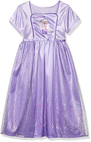Disney Girls' Big Fantasy Nightgown, Elsa - Frozen 2 Classic, 8