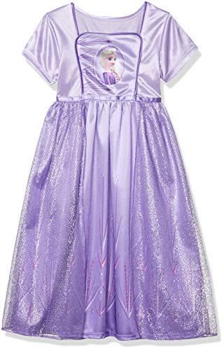 Disney Girls' Little Fantasy Nightgown, Elsa - Frozen 2 Classic, 6