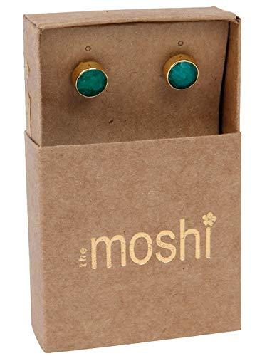 THE MOSHI Ohrhänger Kennedy Emerald 7mm Grün Gold