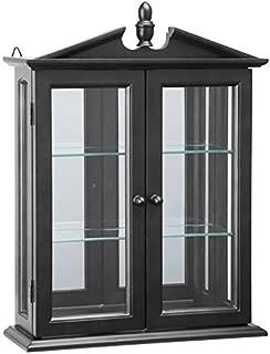 Design Toscano BN17222 Amesbury Manor Wall Curio Cabinet, Ebony Black