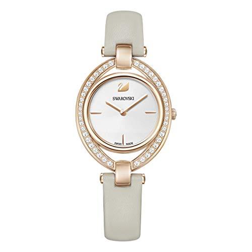 Swarovski Damen Analog Quarz Uhr mit Leder Armband 5376830