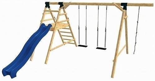LoggyLand 9156 - Holz-Schaukel-Set HAPPY aus L he Duglasie