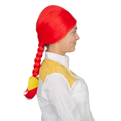 Jessie Cowgirl Wig Deluxe Halloween Costume Accessory Red