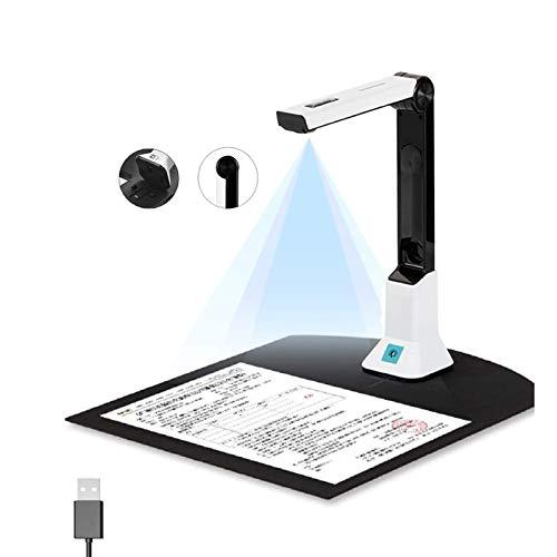 GDAFF Dokumentenscanner Dokumentenkamera Tragbare 8MP-High-Definition Buchscanner für Büro- und Bildung,Mehrsprachige OCR,Erfassungsgröße A4,USB, LED-Licht