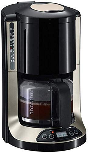Cafetera, Máquina de café de filtro 10 de la Copa programables cafetera con temporizador Mantener caliente de apagado automático Función anti goteo Sistema, reutilizable Filtro Permanente 1,25 l 1yess