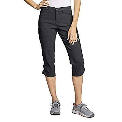 Eddie Bauer Women's Guide Pro Capris, Dk Smoke Regular 12