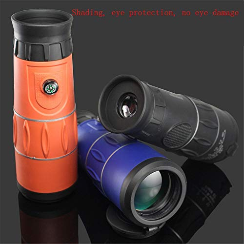 Yaozb Monocular de Alta definición de Alta definición clarividente telescopio de Gran Angular de visión en la Penumbra Nocturna 26X52 (Color : Orange)