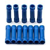 WFBD-CN Terminales de la batería Terminales BV1.25 BV2.5 BV5.5 de crimpado aislados Cable eléctrico Cable Que Prensa de Conectores de terminales Set Kit Surtido (Color : Blue, Pins : 50pcs)