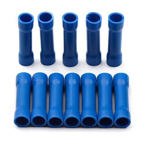 WFBD-CN Batterieklemmen BV1.25 BV2.5 BV5.5 Insulated Crimp Terminals elektrischen Draht Kabel Krimpanschluss Steckersatz Sortiment Kit (Color : Blue, Pins : 50pcs)