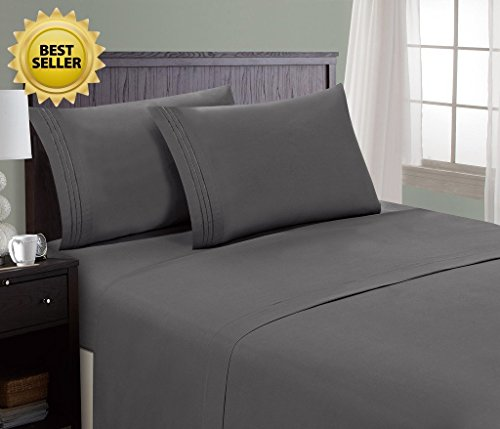 HC COLLECTION Hotel Luxury Comfort Bed Sheets Set, 1800 Series Bedding...