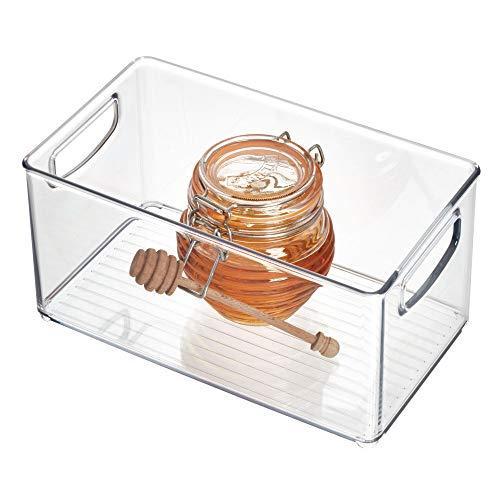 """InterDesign Home Kitchen Organizer Bin for Pantry, Refrigerator, Freezer & Storage Cabinet, 10"""" x 5"""" x 6"""", Clear"""