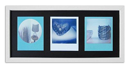 Pared Style Marco para Polaroid de imágenes Serie A850Color Blanco, veteada Normal Cristal Incluye paspartú Negro para 3Polaroids