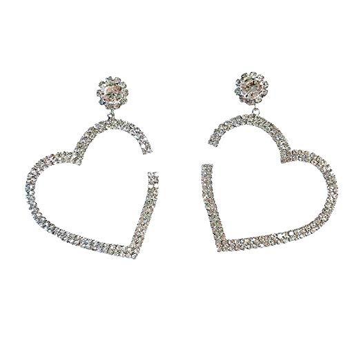 Cyjershi Orecchini, Orecchini Retrò Europei E Americani Nuovi, Diamanti Scintillanti Da Donna, Grande Amore