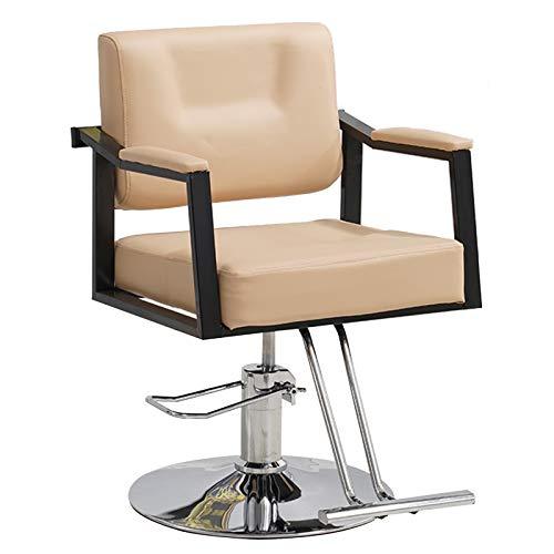 Silla Giratoria Para Peluquería, Giratoria Hidráulica 360 Grados, Altura Ajustable Para Salón Belleza