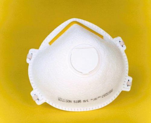 Preisvergleich Produktbild 10 x Willson 5186 Feinstaubmaske FFP1 mitVentil