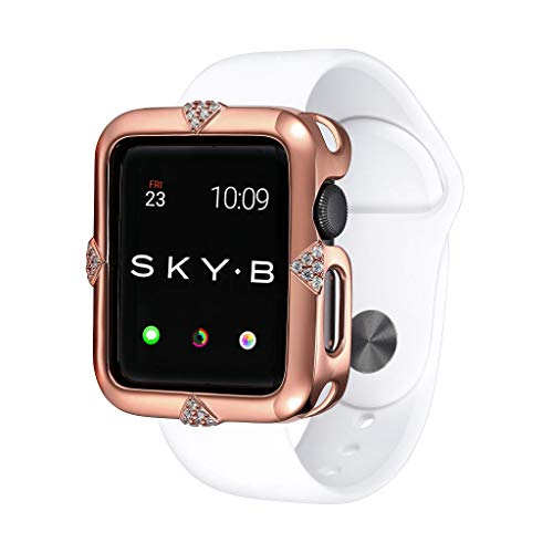 SKYB Pave Points Rose Gold Protective Jewelry Case for Apple Watch Series 1, 2, 3, 4, 5 Devices - 38mm