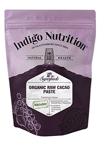 Indigo Herbs Pasta di Cacao Crudo Biologico 500g