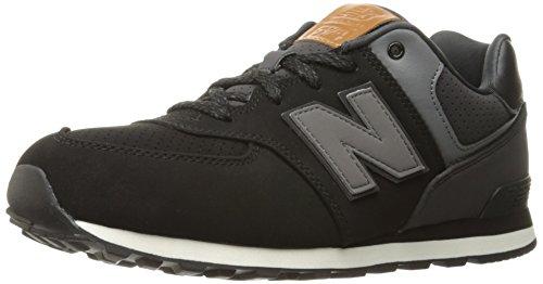 New Balance New Balance Unisex-Kinder 574 V1 Sneaker, Silber - schwarz grau - Größe: 36 EU