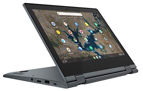Lenovo IdeaPad Flex 3 Chromebook - Portátil convertíble 11.6' HD (Intel Celeron N4020, 4GB RAM, 64GB eMMC 5.1, Intel UHD Graphics 600, Chrome OS) Azul - Teclado QWERTY español