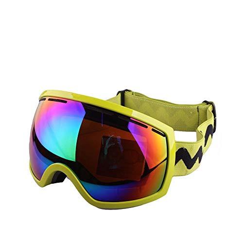 Yi-xir diseño Clasico Gafas de esquí Perspectivas de antifogging bivalentes Fuera de la Prueba de esquí a Prueba de Viento Cocker Myopia Gafas Deportivas Moda (Color : 3, Size : 20 * 10cm)