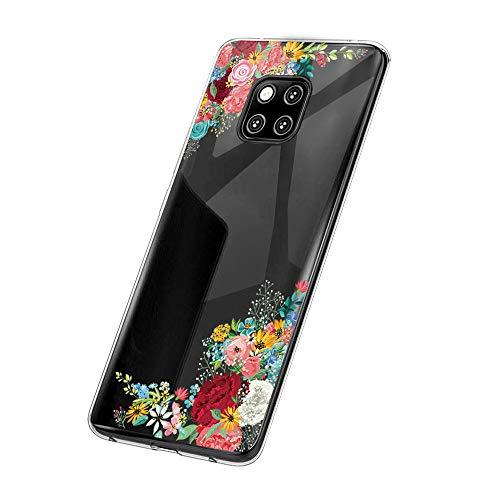 Huawei Mate 20 Pro Hülle,Huawei Mate 20 Case TPU Transparent Silikon Flexibel Ultra dünn Weicher Bumper Anti-Scratch Case für Mate 20 Lite Hülle (Huawei Mate 20, 6)