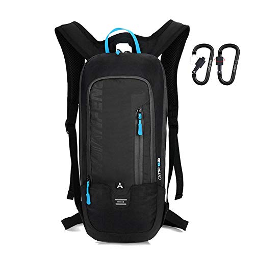 Yovanpur Bike Backpack, Waterproof Breathable Cycling Bicycle Rucksack, 10L Ultralight Mini Biking Daypack Sport Bags for Fitness Running Hiking Camping Climbing Skiing Biking Trekking (Black)