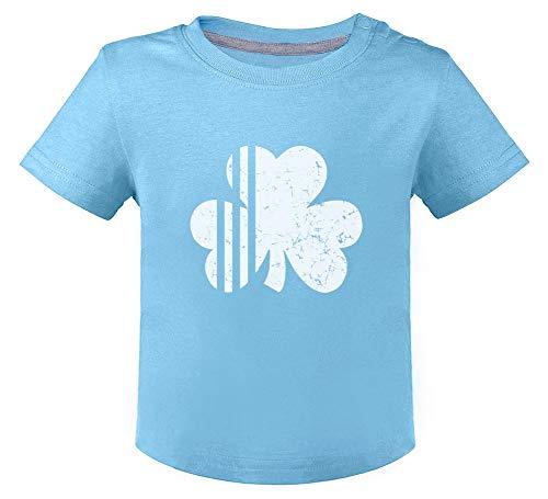 Irish Shamrock St Patrick Four Leaf Clover T-Shirt Bébé Unisex 24M Bleu Ciel