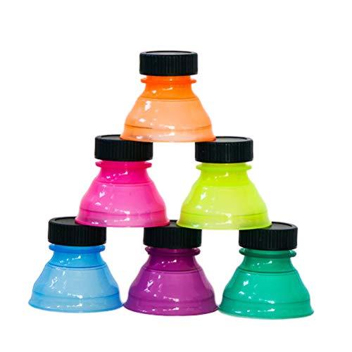 Borstu 6 Stück Soda Getränkedose Deckel Wiederverwendbare Dosendeckel Schutzabdeckung für Soda Bier Energy Drinks Juice Zufällige Farbe