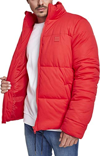 Urban Classics Herren Boxy Puffer Jacket Jacke, Rot (Fire Red 00697), Small