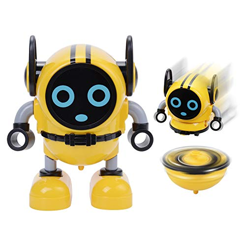 Novelty Spinning Top,Detachable Gyro Car Toys,Battling Game Robot Toy,Wind Up Toys for Kids (Yellow)