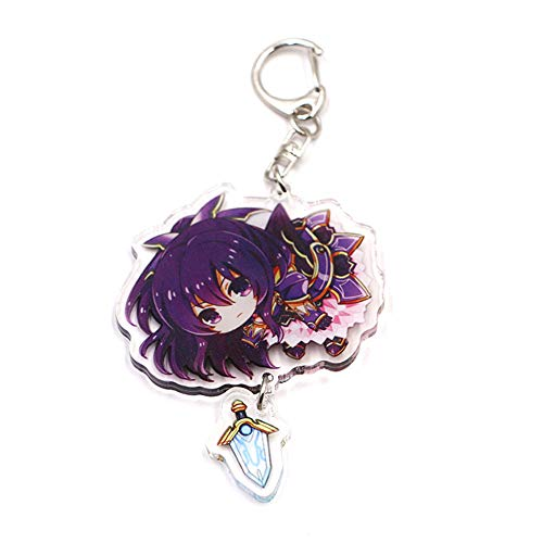 ALTcompluser Anime Date A Live Schlüsselanhänger Doppelseitig Schlüsselbund Acryl Anhänger, Dekoration für Tasche/Rucksack/Mäppchen(6 cm Height Yatogami Tohka Princess)
