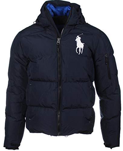 Ralph Lauren Daunen-Jacke, Big Pony, großes Logo - Navy oder Blau (Marine, XXL)