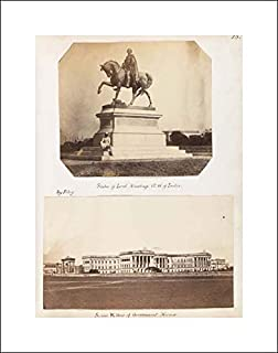 Photographic Art - 16x20 Art Print by Museum Prints - Statue of Lord Hardinge, Governor General of India
