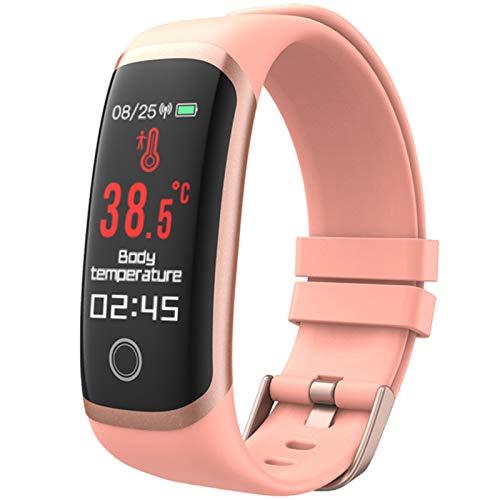 FZXL 2021 Körpertemperatur Smart Fitness Armband Sport Smart Band Uhr IP67 wasserdichte Schrittzähler Fitness Tracker Blutdruck T4,A