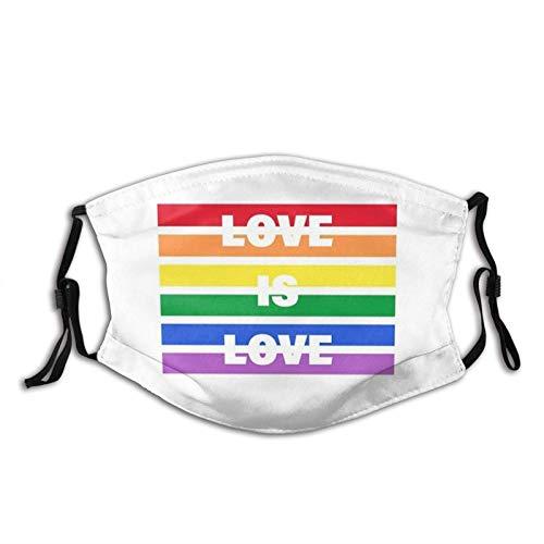Pasamontañas Lgbt Rainbow Gay Pride Mascarilla facial, lavable y...