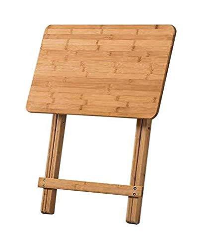 Mesa de centro Mesas laterales Mesa plegable lateral simple Fin pequeña mesa de centro Tabla Inicio Mesa de comedor de madera maciza portátil retro de la tabla del ordenador Tablas de café pequeñas