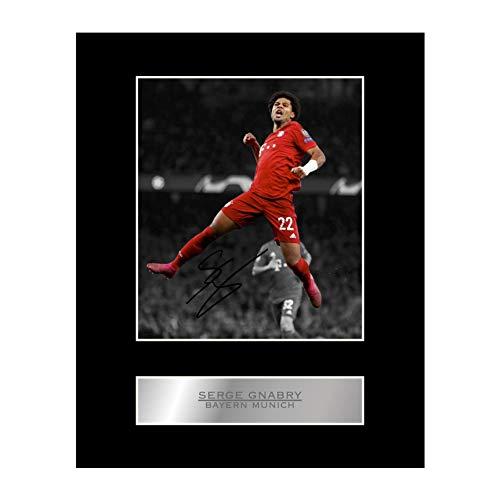 Signiertes Foto von Serge Gnabry, Bayern München FC #01 mit Autogramm
