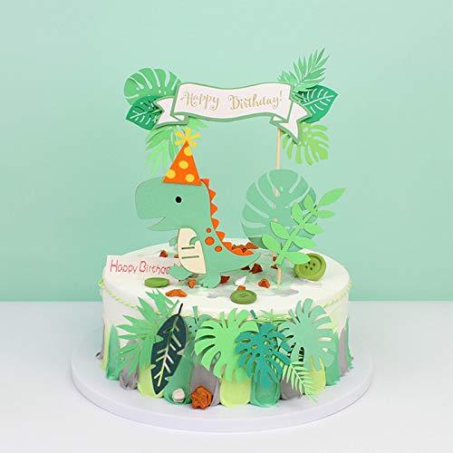 11 pezzi Decorazione torta di dinosauro, Animale Torta Toppers, Decorazioni per Torte di Compleanno, kit Topper Torta Dinosauro, per Forniture per Feste di Compleanno per Bambini