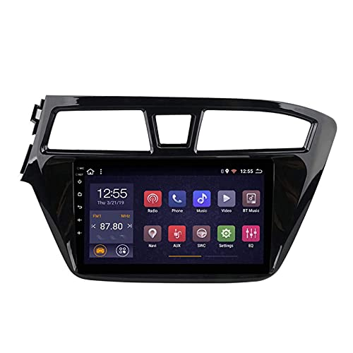 Android 10.0 Autoradio Per La Radio Per Il 2015-2018 Hyundai I20 Auto Stereo GPS Navigazione GPS Touch Display Auto Media Player Double DIN Head ; Supporto WiFi Controllo Volan(4G+WIFi,2+32G)
