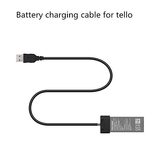 Metermall Home Voor TELLO Lader USB-kabel Lijn Opladen Aansluitpoort Voor DJI Voor TELLO 1100mAh Wi-Fi FPV Quadcopter Drone Batterijaccessoires