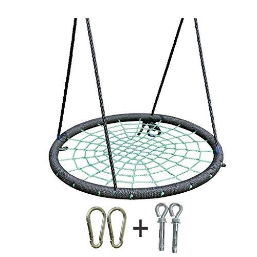 Hong Yi Fei-shop Einstellbare Schaukel Außenschaukel Verstellbare Lanyard Spider Web Schaukel Durchmesser 39 Maximale Tragfähigkeit 200KG Klappschaukel (Color : Green, Größe : B)