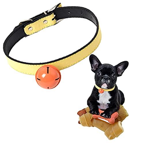 CHMEYUN Collar De Perro Ajustable Universal Bell Collar De Perro Campana Collar De Cachorro Collar De Perro Campana Collar De Perro
