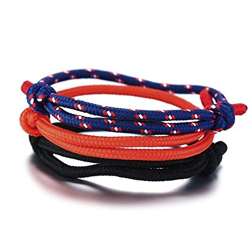 NDOSD Armband Einstellbare Kletterseil Armband Rutschen Braid Jewelry Guys Jeweladjustable Kletterseil Armband Rutschen Braid Jewelry Guys Jewelry